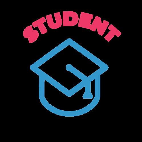 Student/Teacher/Veteran/Senior (65+) Membership $25/year