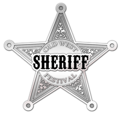 custom made old west festival sheriff star badge pin.png
