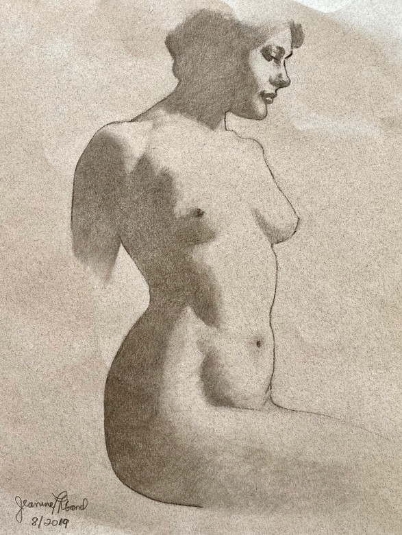 Study of a drawing by John Singer Sargent in pencil