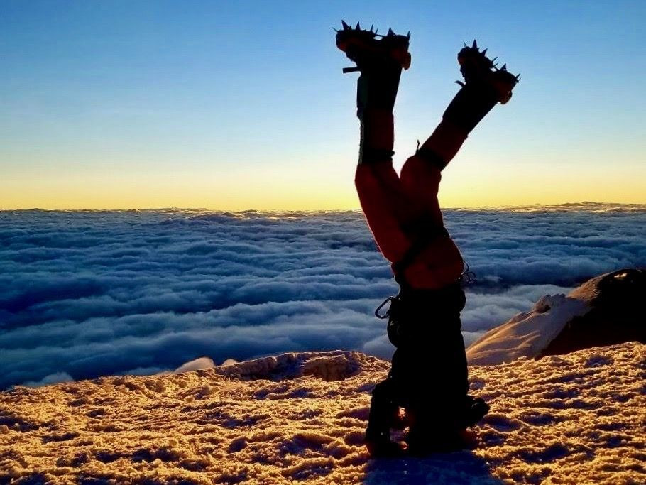 """Sunrise on Cotopaxi in """"Mountaineering in Ecuador"""" by Michelle Riband, Beyond the Brambles"""