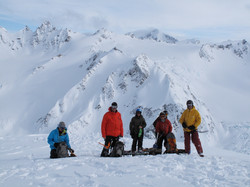 Heli ski group ready to ski