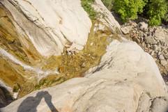Looking down Lisa Falls
