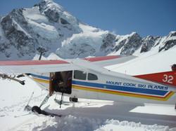 Ski plane on the Grand Plateau