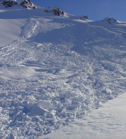 This avalanche was remotely triggered!