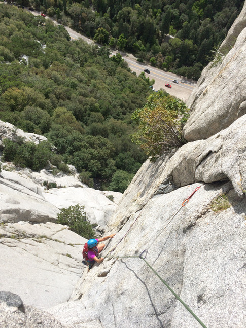 Becky's Wall, 5.7, pitch 2