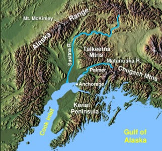 Chugach Map Backcountry Skiing