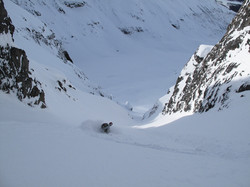 Untracked couloir below