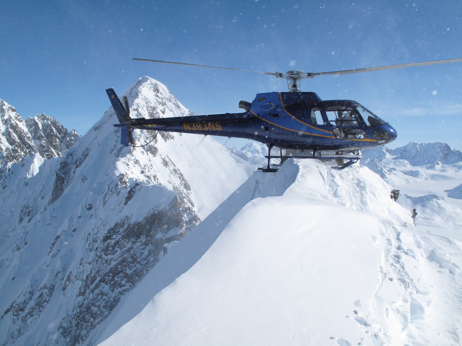 A small landing zone in the Chugach