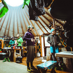 A lively yurt