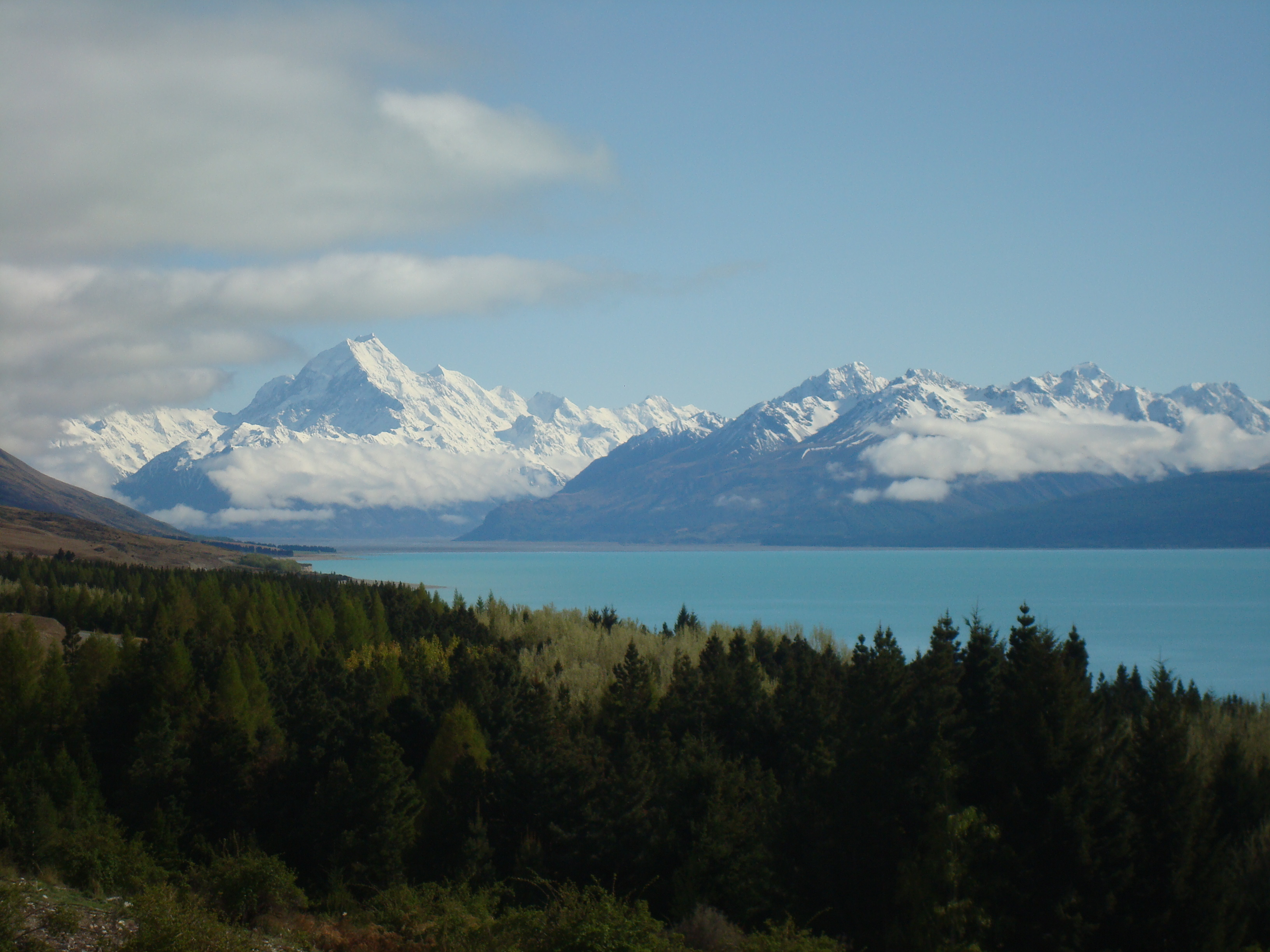 A distant Mt. Cook