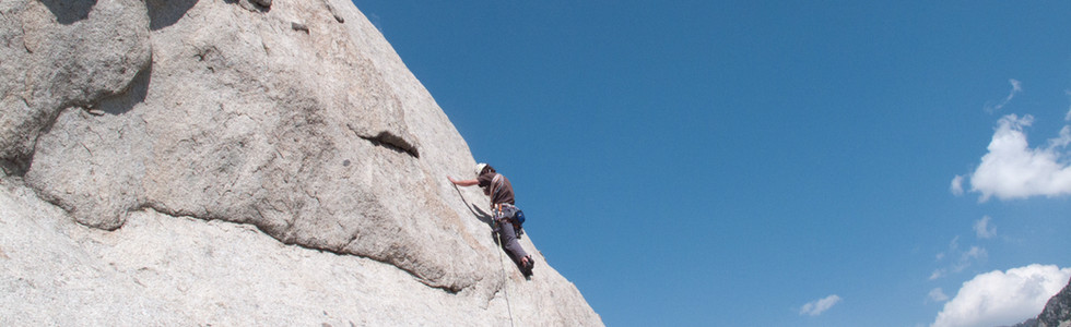 Leading out on fine granite