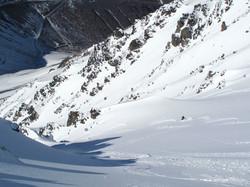 Skiing the Drainpipe, Mt. Olympus