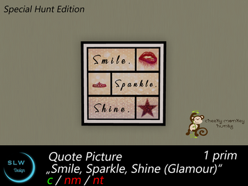 SLW Design - Too Glam to give a damn Hunt