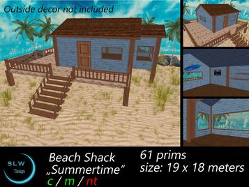 SLW Design - Beach Shack 'Summertime'