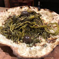 Friarielli - served in a pizza bread bas