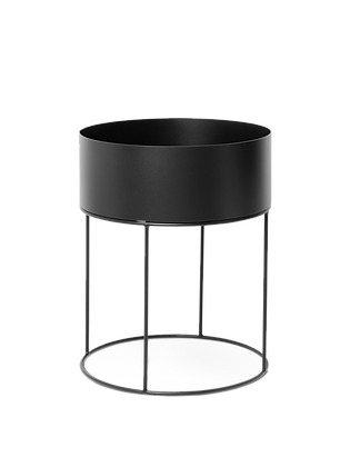 Plant Box - Round Black