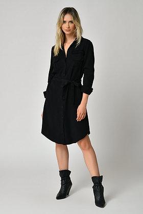 Five Shirt  Dress - Black