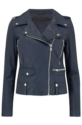 MDK Leather Jacket - Navy