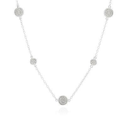 Anna Beck Long Necklace Silver