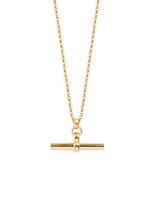 Tilly Sveaas Medium Gold T-Bar On Belcher Chain