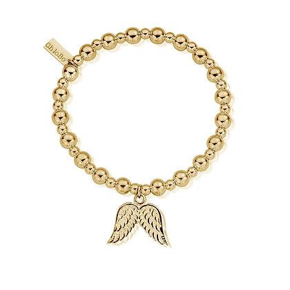 Chlobo Mini Small Ball Double Angel Wing Bracelet