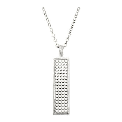 Anna Beck Vertical Bar Pendant Necklace Silver