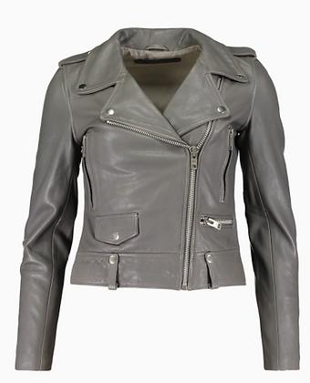 MDK Leather Jacket Grey