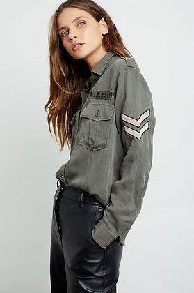 Rails Conrad Military Patch Shirt