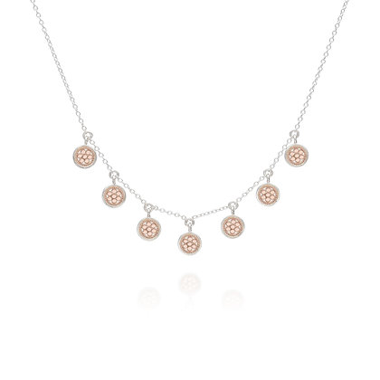 Anna Beck Mini Disc Necklace Rose Gold