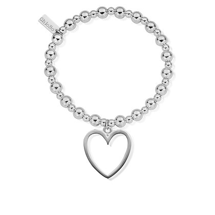 Chlobo Mini Small Ball Open Heart Bracelet