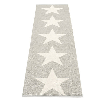 Pappelina Runner Metallic Grey 70x250cm
