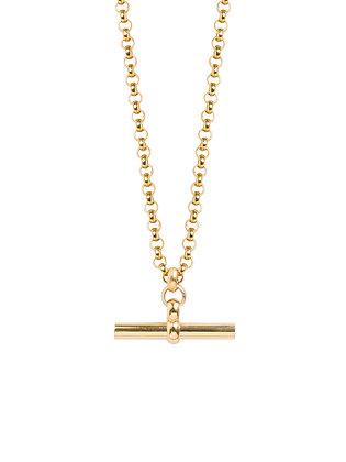 Tilly Sveaas Medium Gold T-Bar On Chunky Belcher Chain