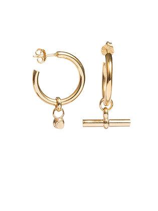 Tilly Sveaas Large Gold T-Bar Earrings