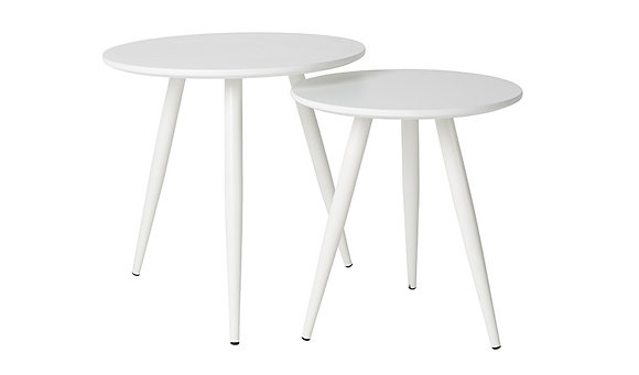 Daven Side Table Set of 2 - White