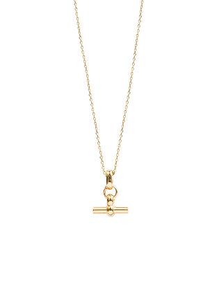 Tilly Sveaas Mini T-bar Gold Necklace