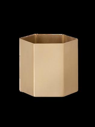 Hexagon Pot Large Brass