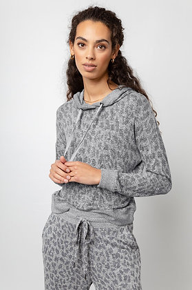 Rails Leopard Hooded Top