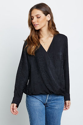 Rails Hillary black snake blouse