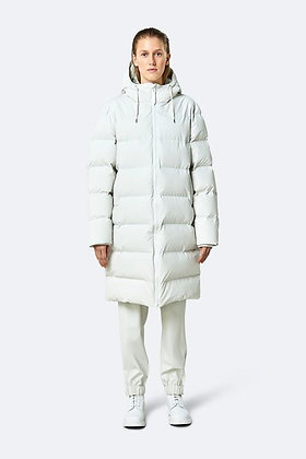Rains long puffer jacket - off white