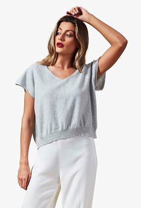 Brodie Cashmere Penelope Tee - Grey