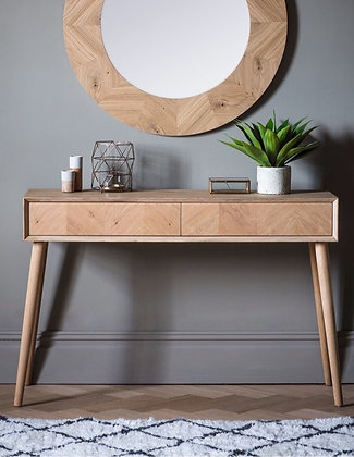 Chevron 2 Drawer Console Table