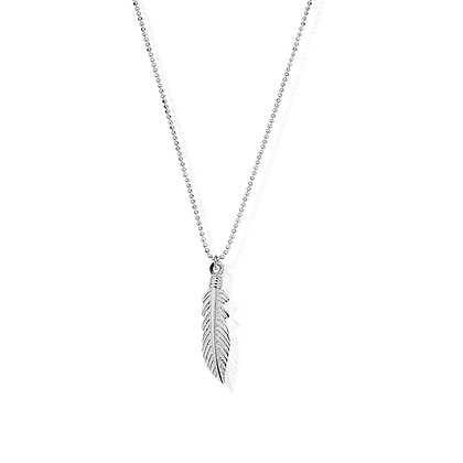 Chlobo Diamond Cut Chain With Feather Pendant
