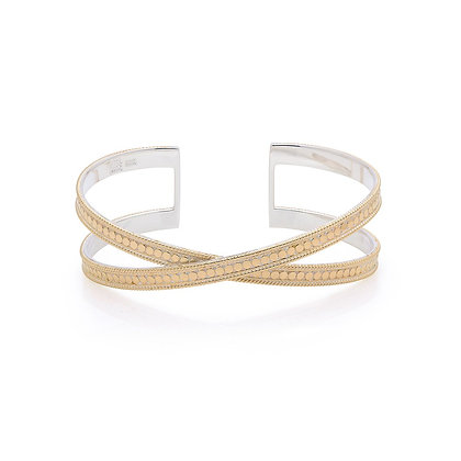 Anna Beck Cross Cuff Gold