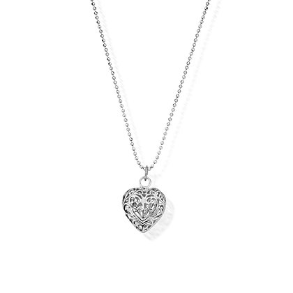 Chlobo Diamond Cut Chain With Filigree Heart Pendant