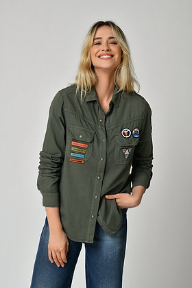 Five Military shirt - Ivy Green
