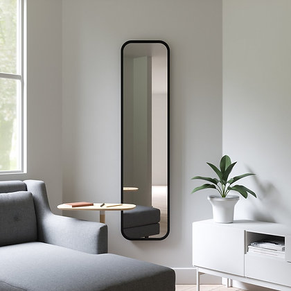 Wall-Leaning Mirror