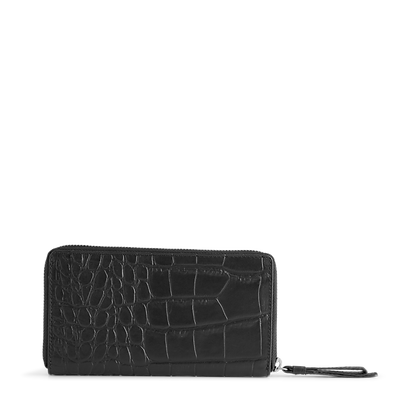 Grith Wallet Croco - Black