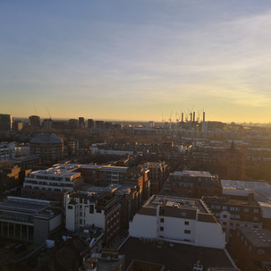 View from Hide Tower of Battersea Power Station, Pimlico Station, and the new US Embassy