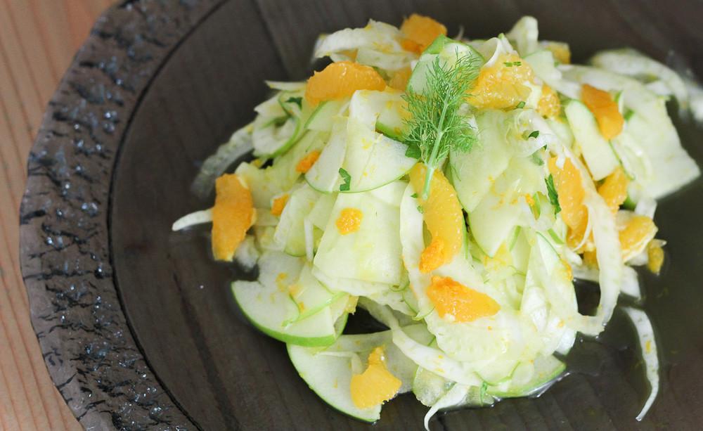 Fennel, Orange and Green Apple Salad