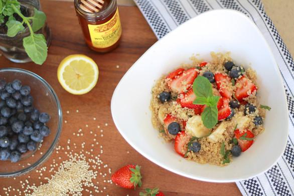 Light and Refreshing Breakfast Quinoa with Fresh Fruit